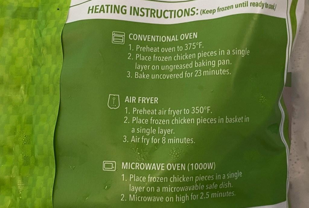 chicken nugget instructions