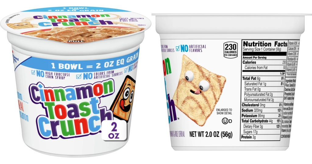 cinammon toast crunch cereal cups