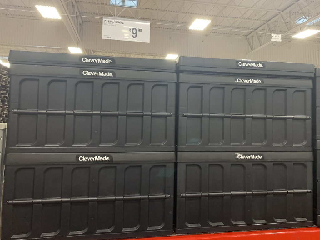 clevermade 62l collapsible crate at sams club
