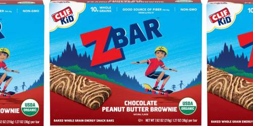 CLIF Kid Organic ZBars 18-Count Only $10.52 on Amazon | Just 58¢ Per Bar