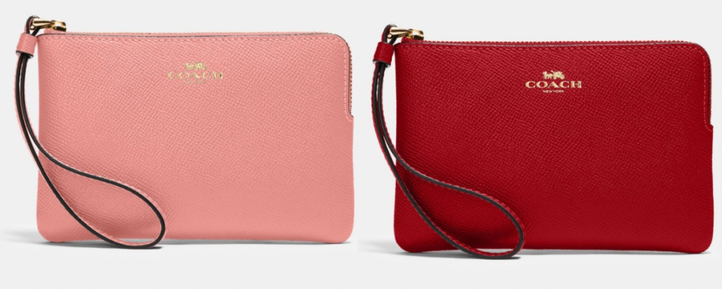 coach wristlets pink and red