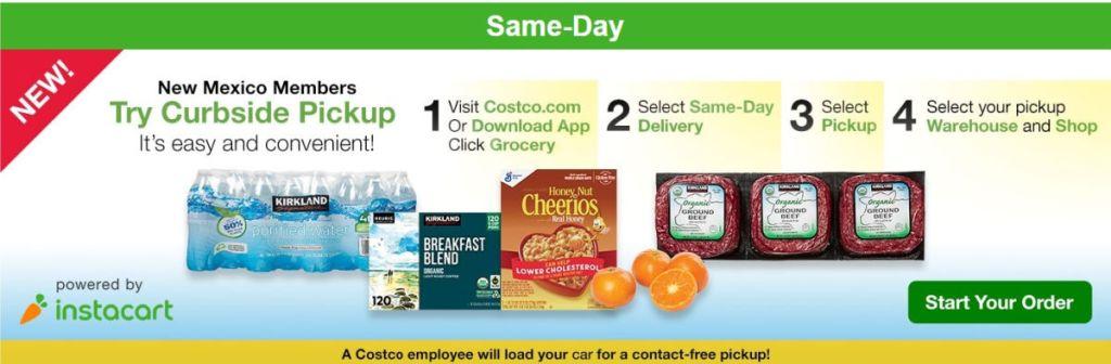 screenshot from Costco website