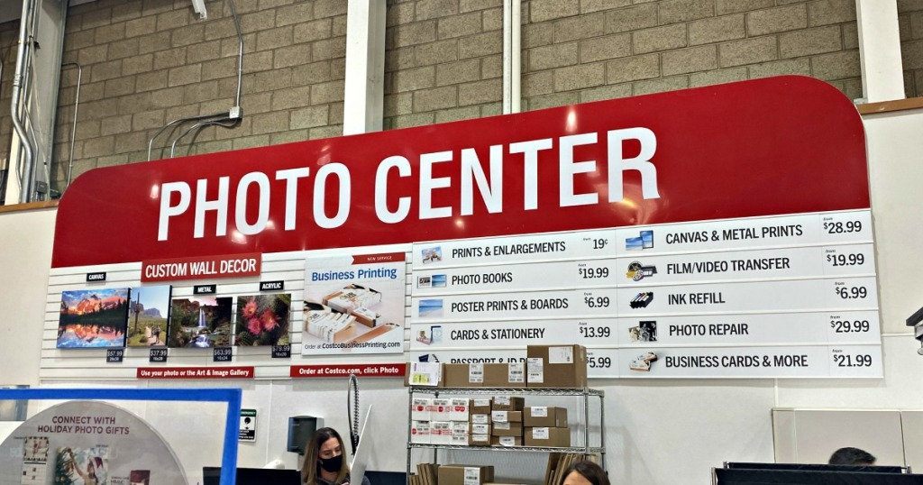 costco photo department in-store sign