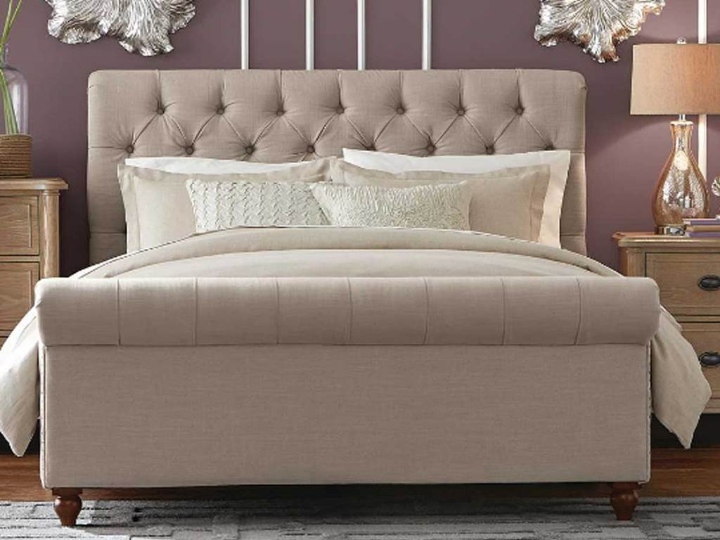 Home Decorators Collection Gordon Upholstered King Sleigh Bed