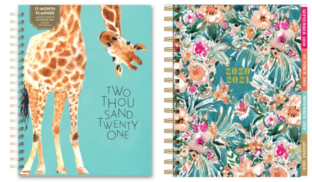 two cute planners w/ giraffe
