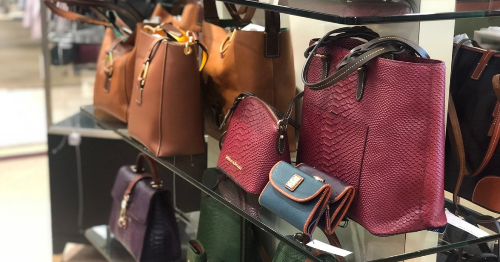 purses of different sizes on display in store