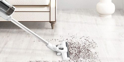Cordless Vacuum Cleaner Just $89.99 Shipped on Amazon | Weighs Under 5lbs & Converts to a Hand Vac