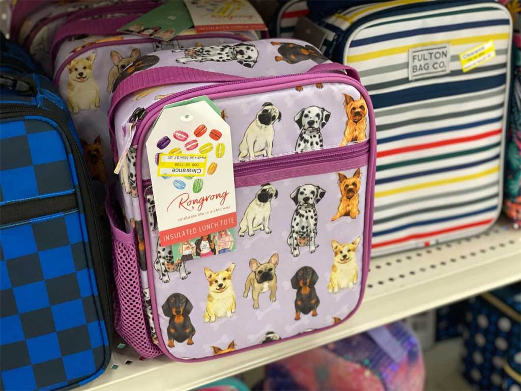 lunchbox with dogs on it