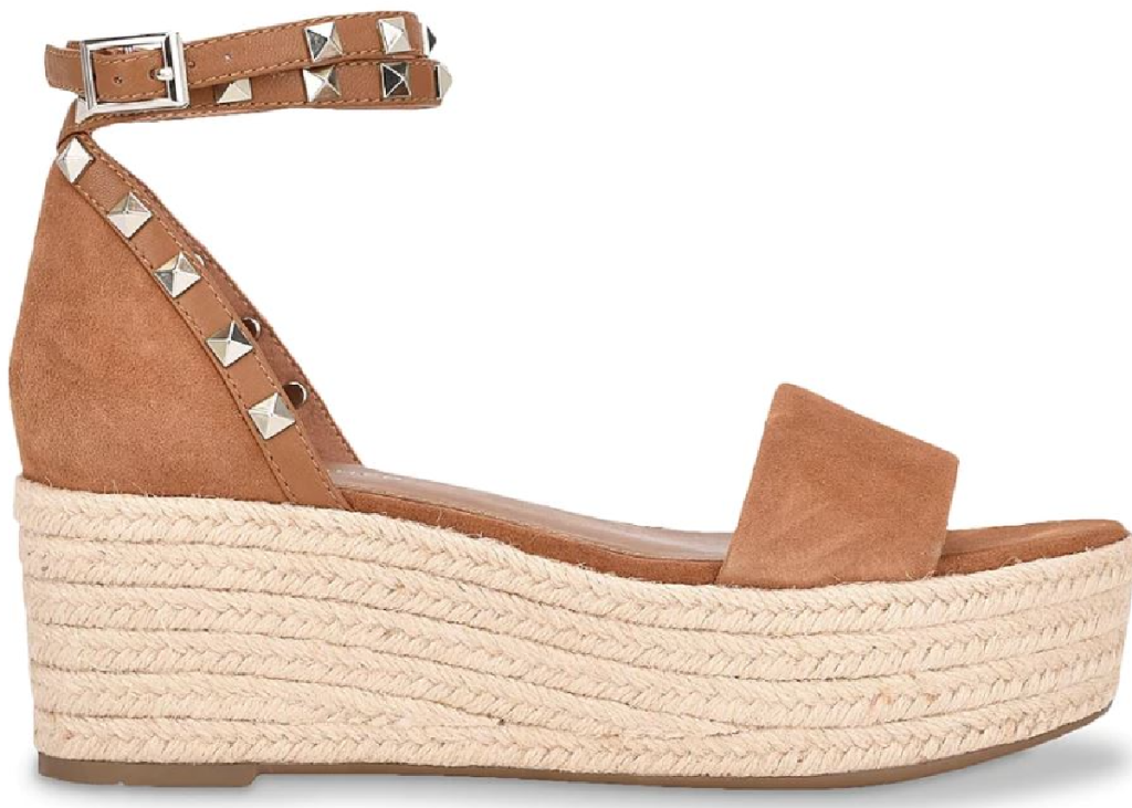 brown sandal with thick wedge