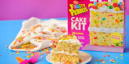 Duncan Hines Launches New Fruity Pebbles Cake Baking Kit