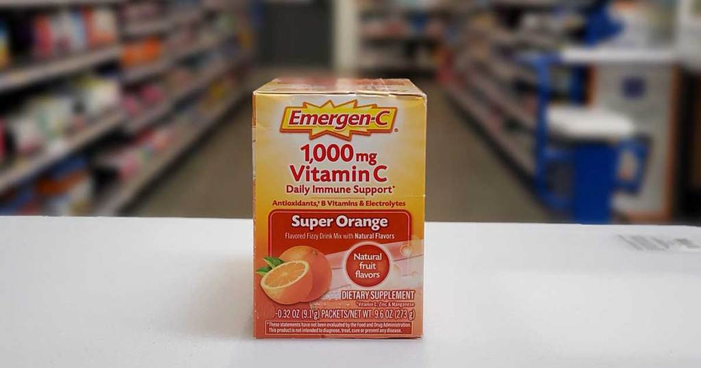 emergenc drink on display in store