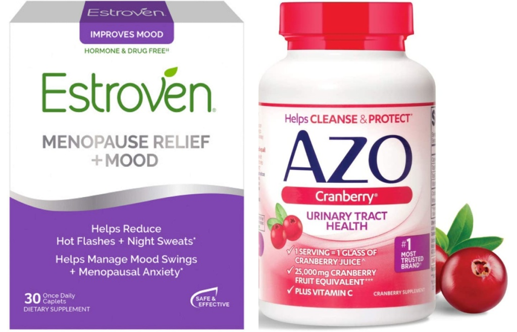 estroven menopause relief and azo cranberry supplements