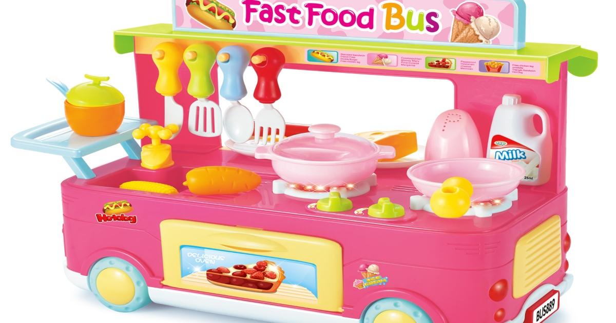 fast food bus playset
