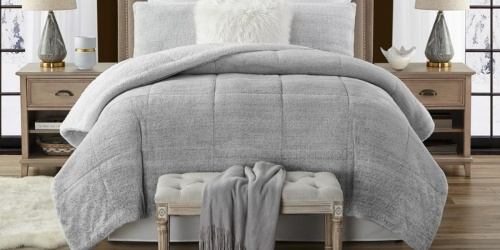 Faux Fur & Sherpa 3-Piece Reversible Comforter Set from $42 Shipped on HomeDepot.com (Regularly $94+)