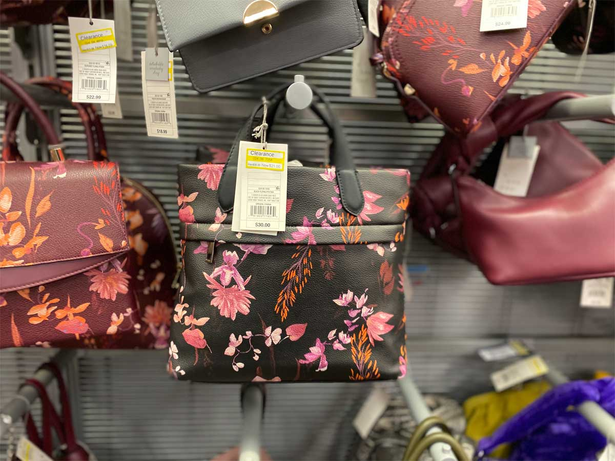 purse on display in a store