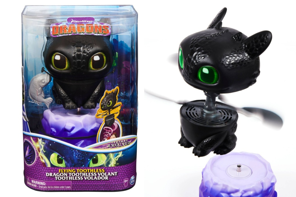 flying toothless in nd out of box