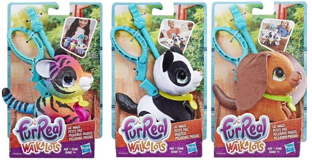 furReal Walkalots Lil Wags Tiger Panda Bunny in packaging