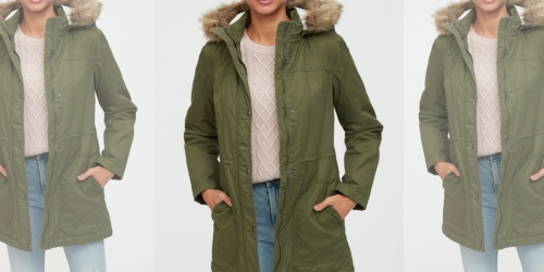GAP Women's Sherpa-Lined Parkas Only $35.48 (Regularly $120)