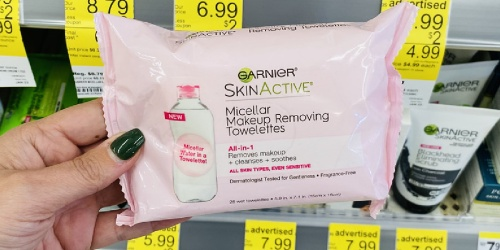 Garnier Makeup Remover Towelettes Only $2.24 at Walgreens (Regularly $7)