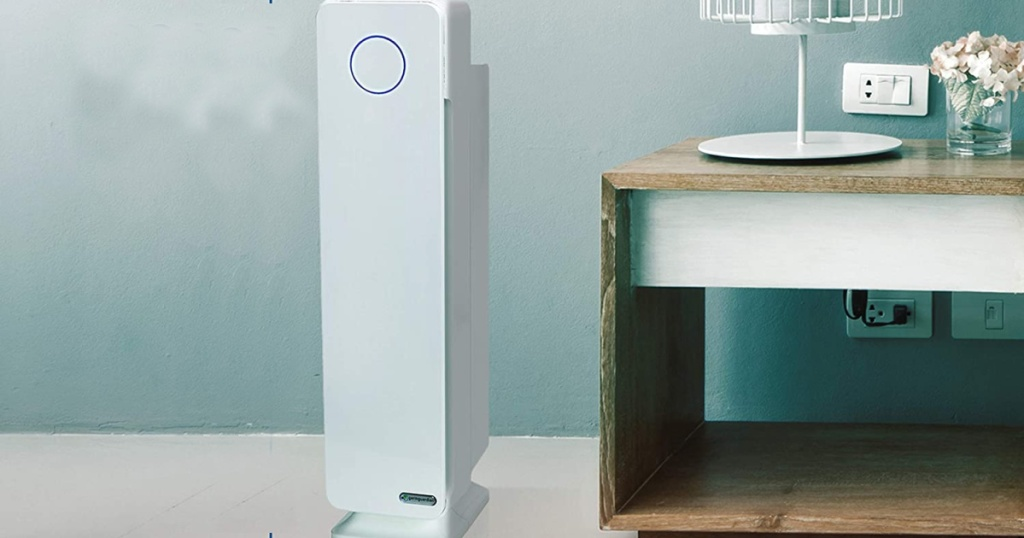 germguardian air purifier beside table