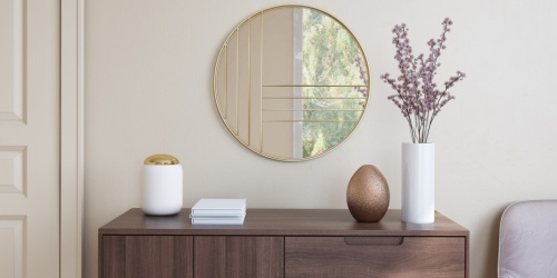 Mid-Century Modern Gold Accent Mirror Only $67.54 Shipped on Walmart.com (Regularly $129)
