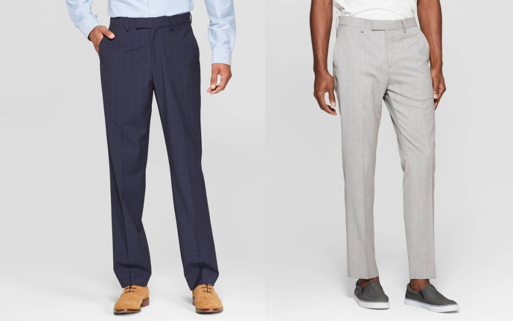 goodfellow & co men's pants navy and gray
