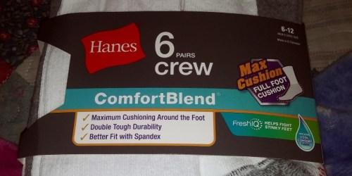 Hanes Men's ComfortBlend Crew Socks 6-Pack Only $7 on Amazon (Regularly $15)