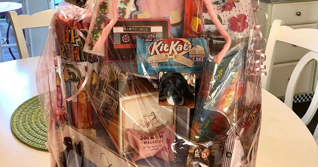 Gift basket with candy and gifts