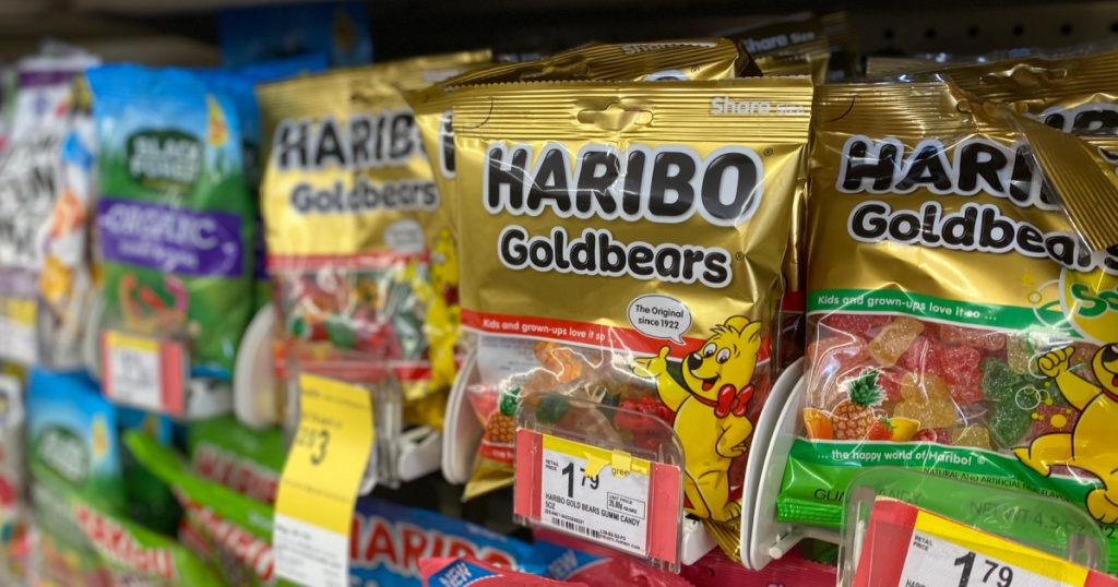 Delph with gold bears gummy bears