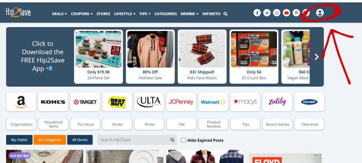 screenshot of Hip2Save.com