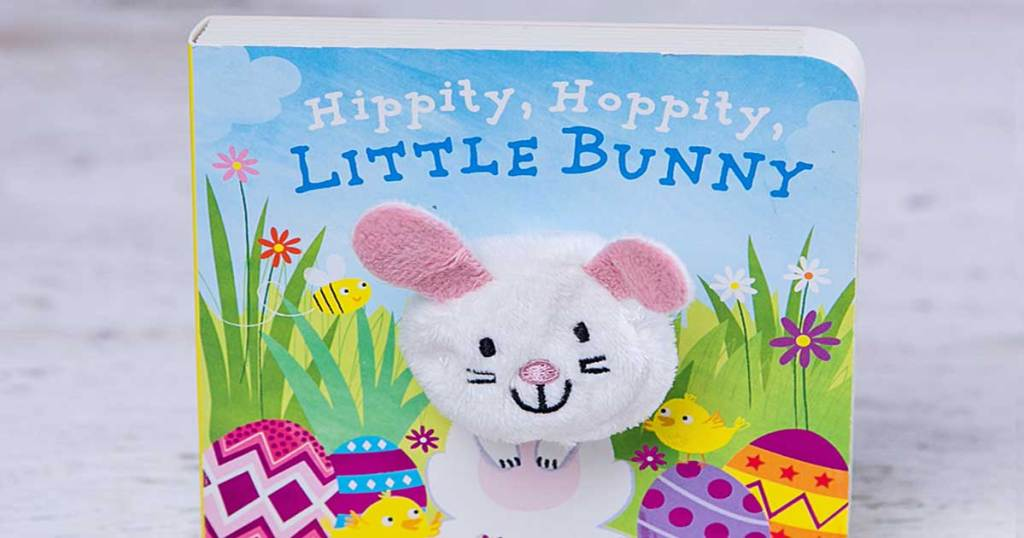 board book about a bunny on table