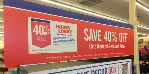 Hobby Lobby is Eliminating its 40% Off Coupons