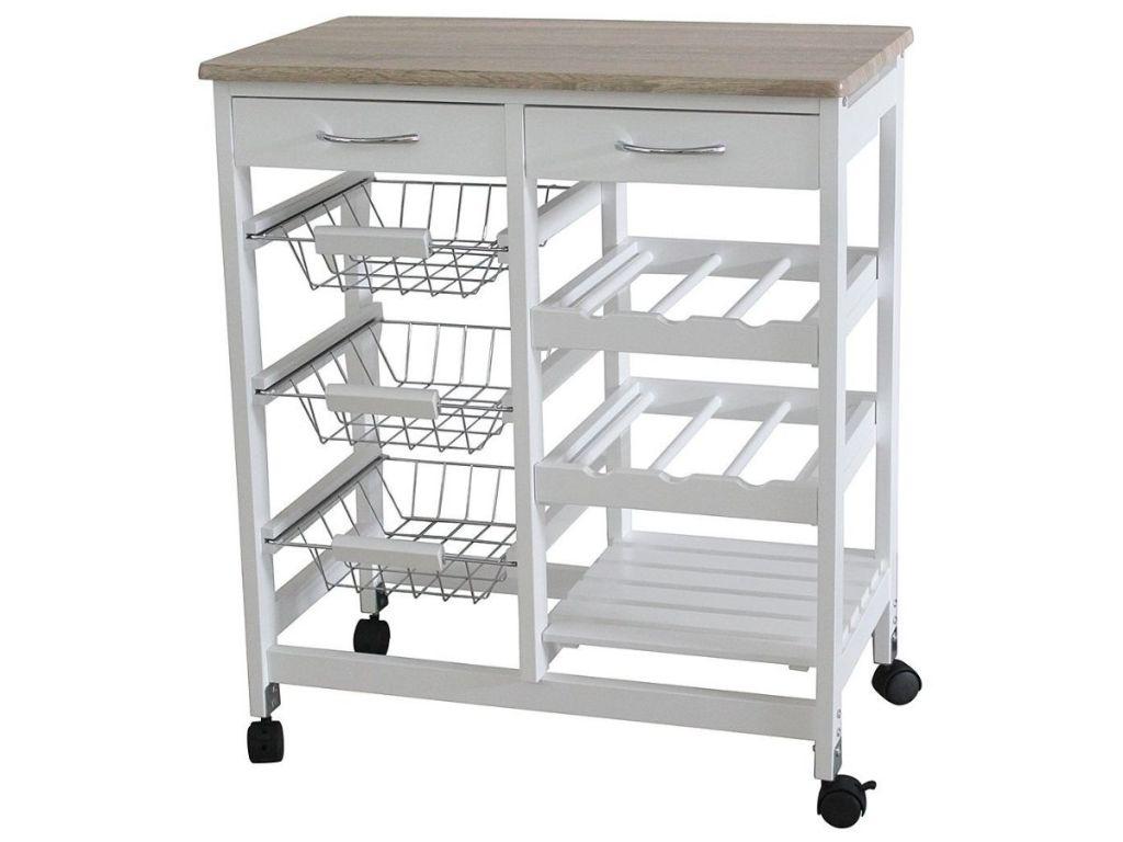 home basics White Kitchen Cart
