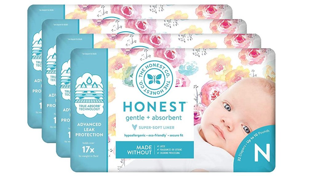 honest diapers roses 4 packs