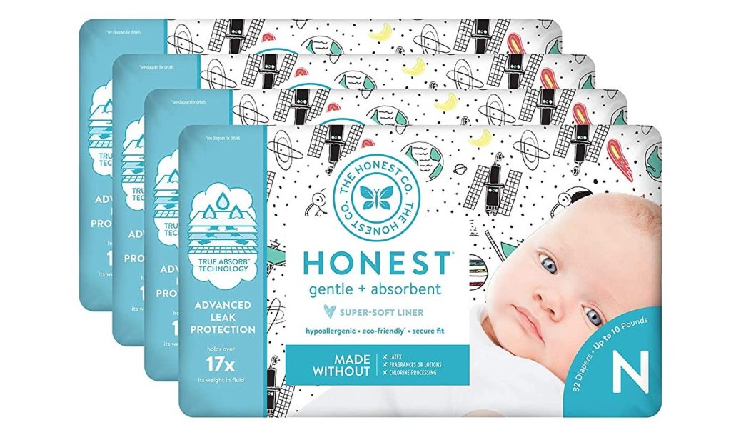 honest diapers space travel