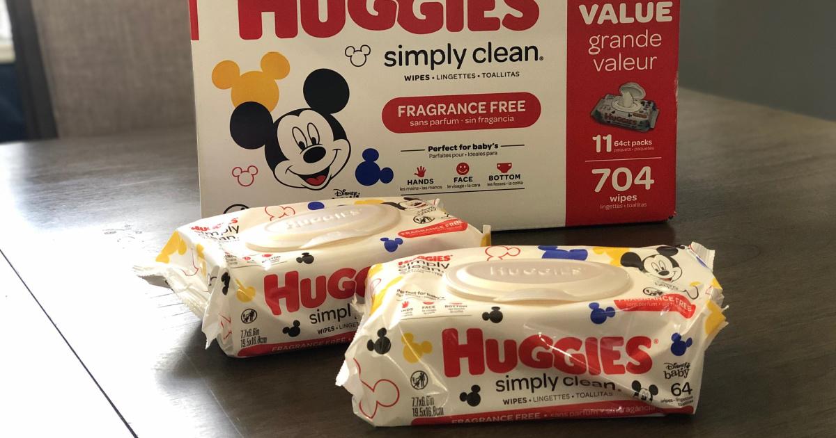huggies simply clean wipes packs