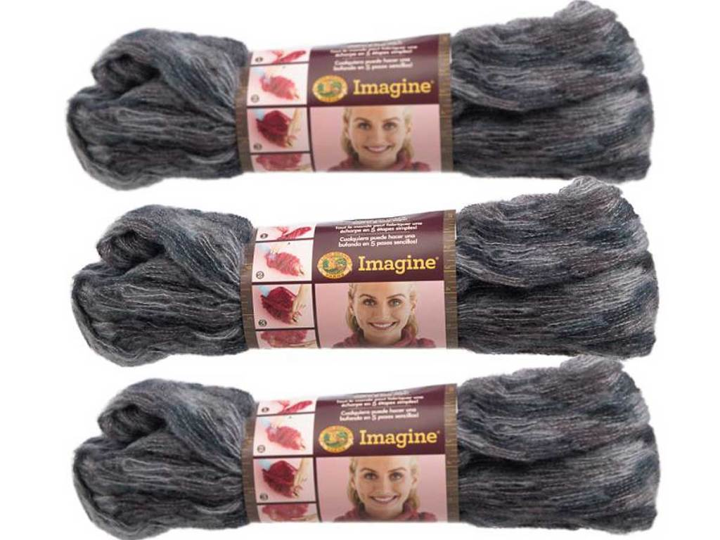 3 scans of baby soft yarn gray