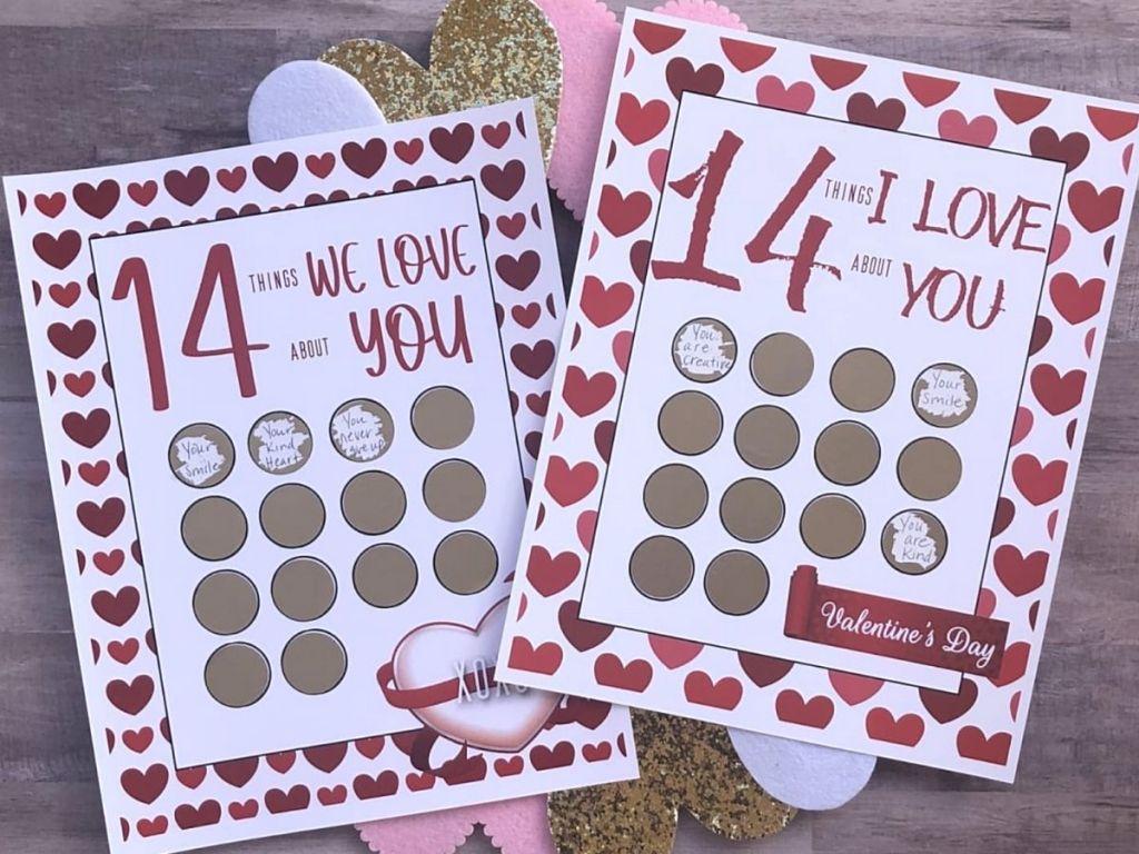 Valentines day scratch offs