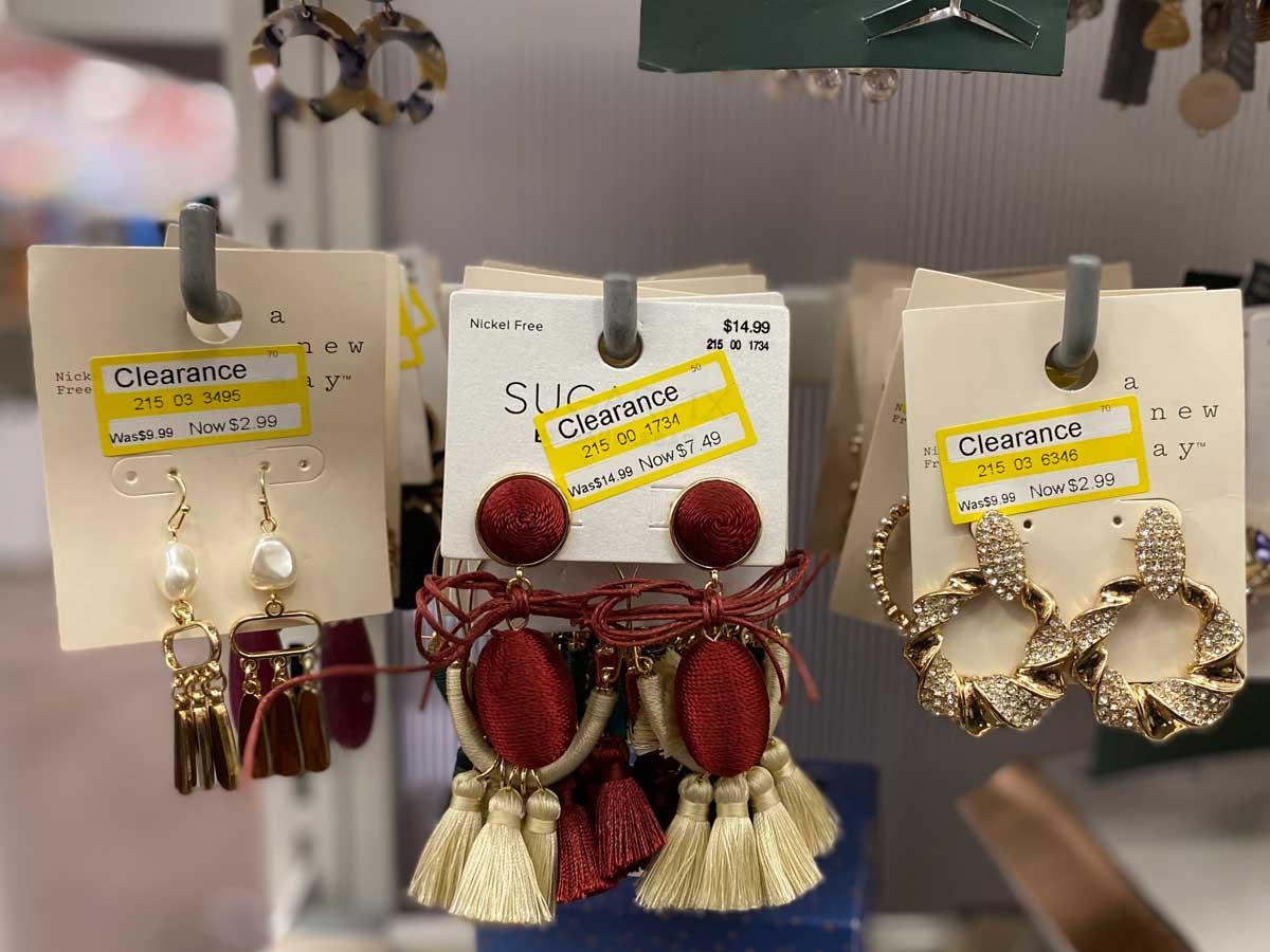 earrings on clearance in store