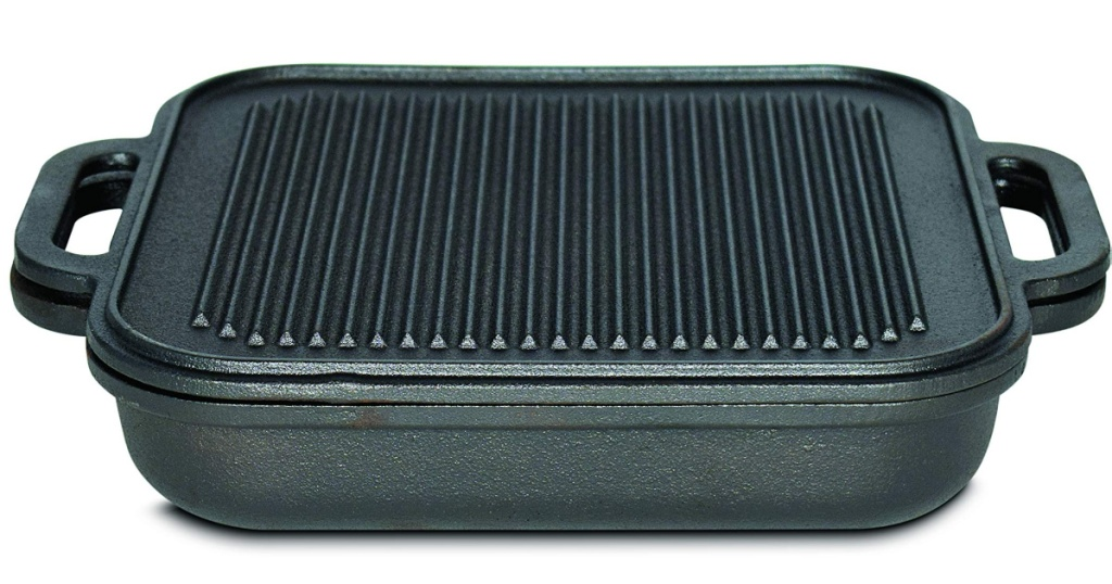 jim bean griddle with ridged lid closed