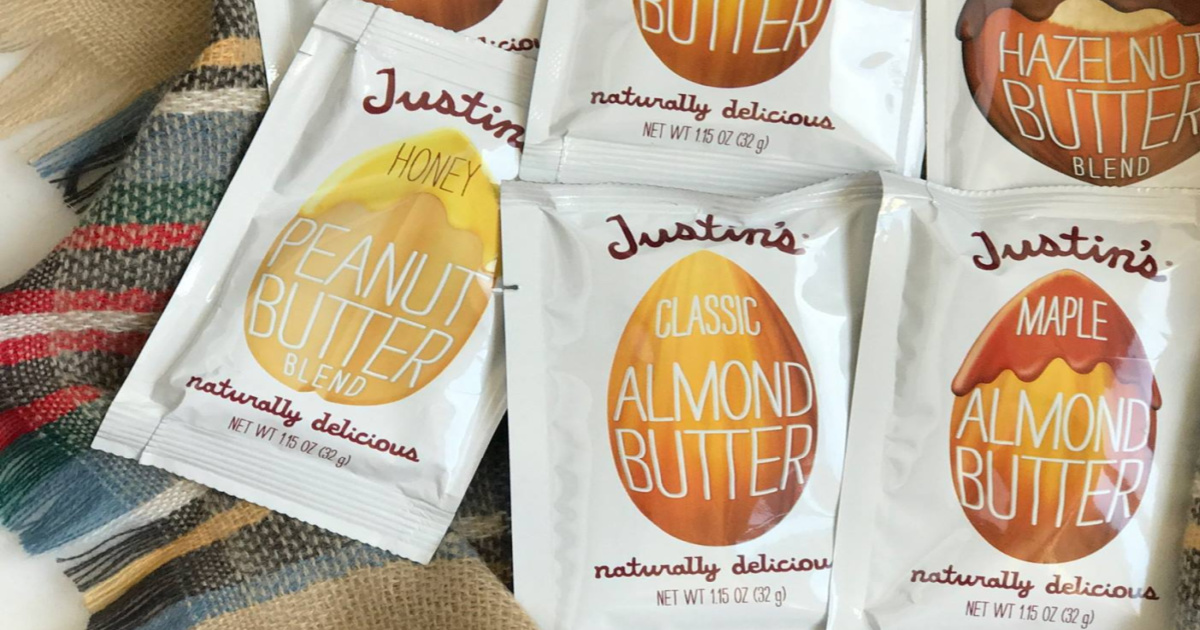 packets of justins nut butters