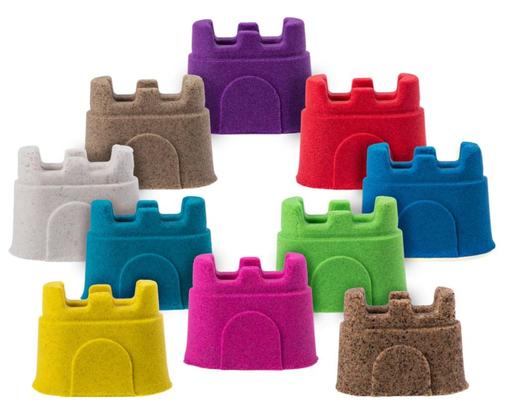 kinetic sand castle different colors