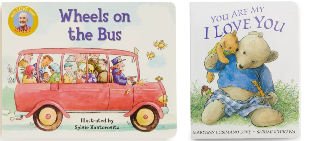 wheels on the bus and you are my i love you books
