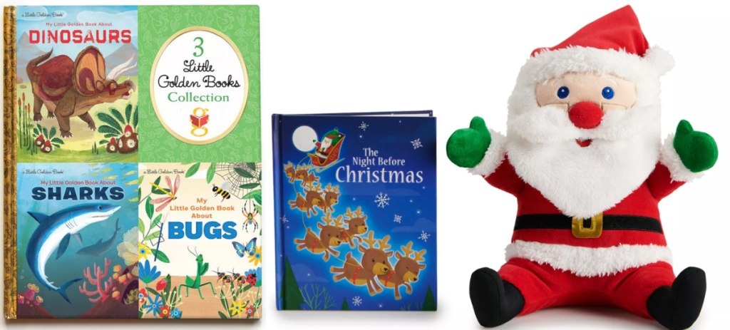 3 little golden books and the night before Christmas book bundle
