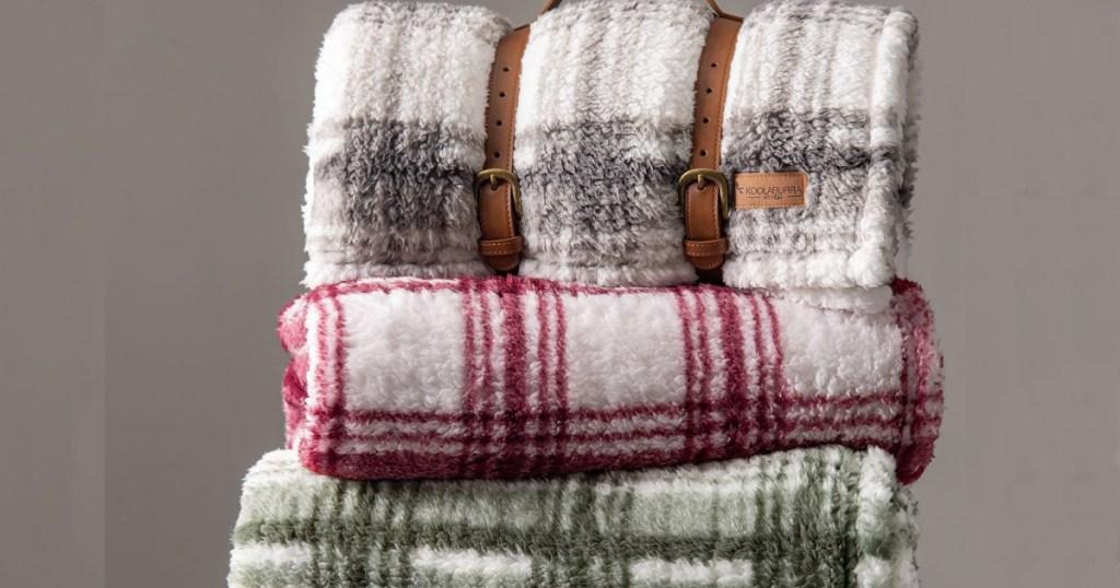 koolaburra blankets stacked