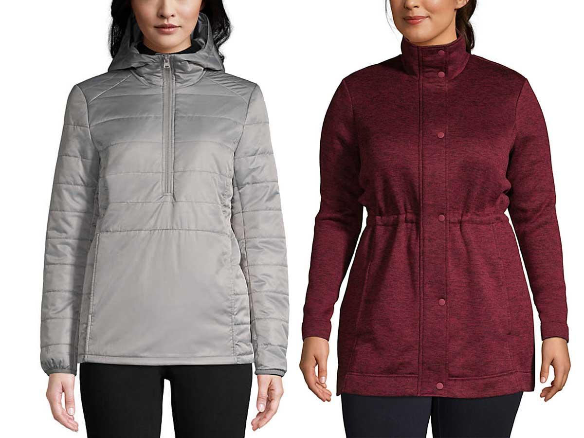 models wearing winter jackets