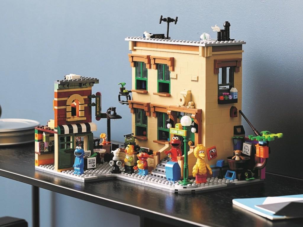 completed Lego Sesame Street set