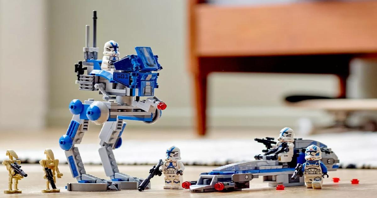 lego star wars legion kit built and on the floor