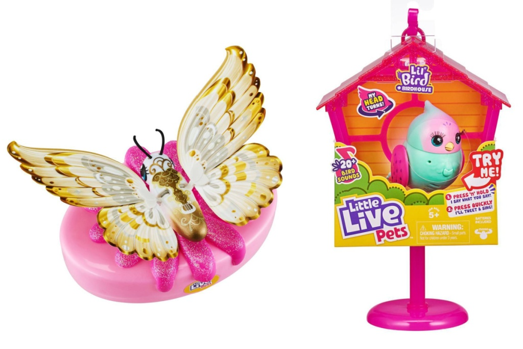 little live pets butterfly and bird