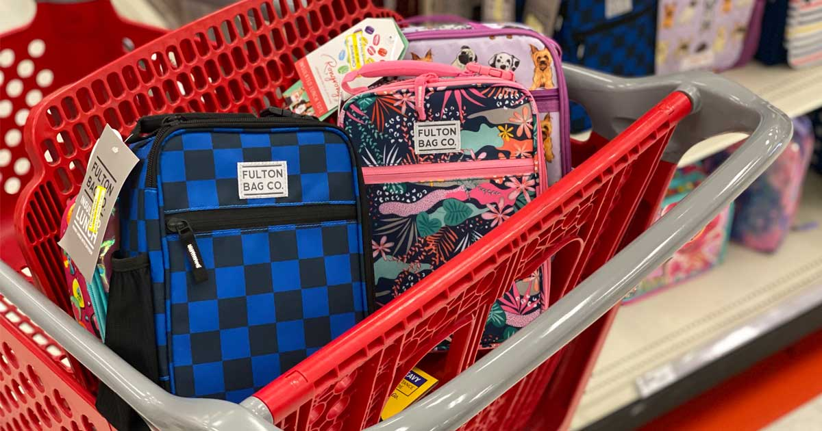 cart full of lunchboxes